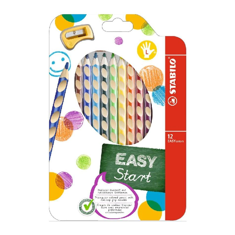 Värvipliiats 12 värvi  Stabilo Easy colors V+terit.