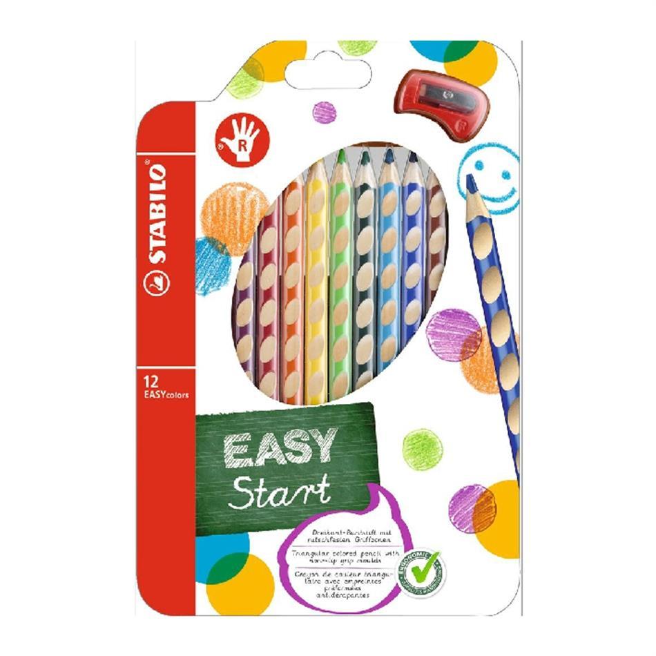 Värvipliiats 12 värvi  Stabilo Easy colors P+te..