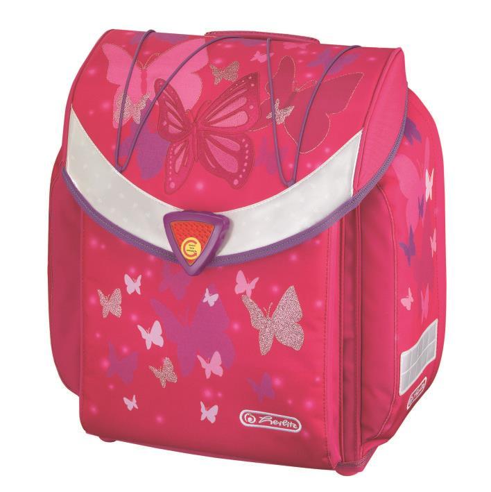 Koolikott-ranits Herlitz FLEXI Pink Butterfly