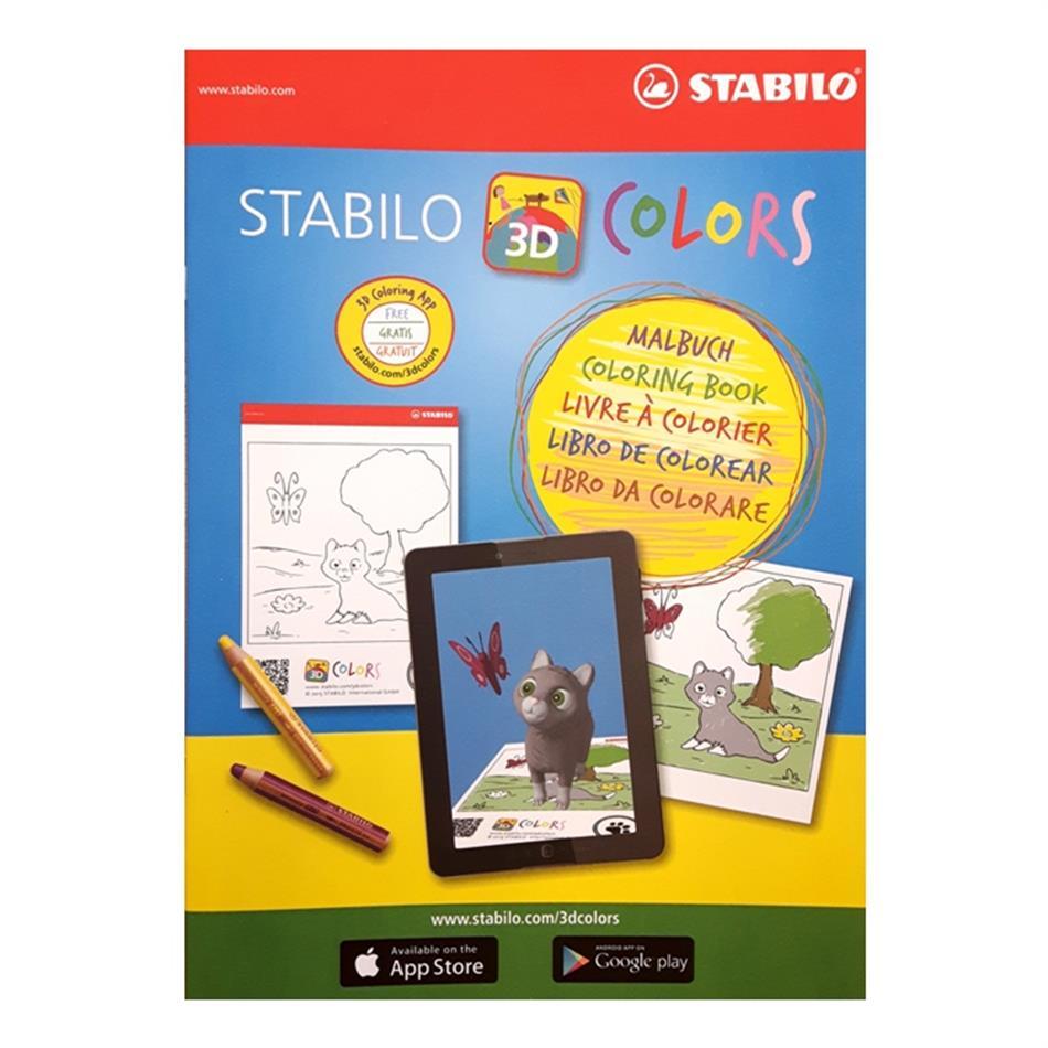 Stabilo värvimisraamat A4/12 lehte