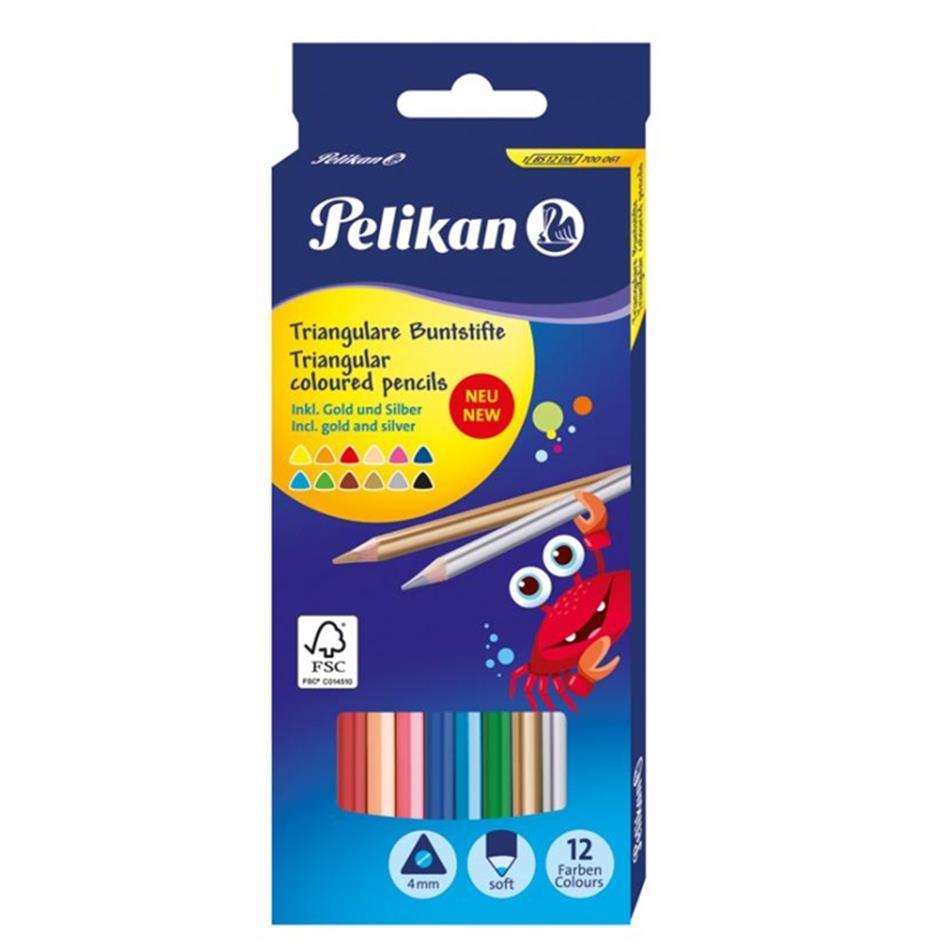 Värvipliiats 12 värvi  Pelikan kolmnurkne SOFT ..