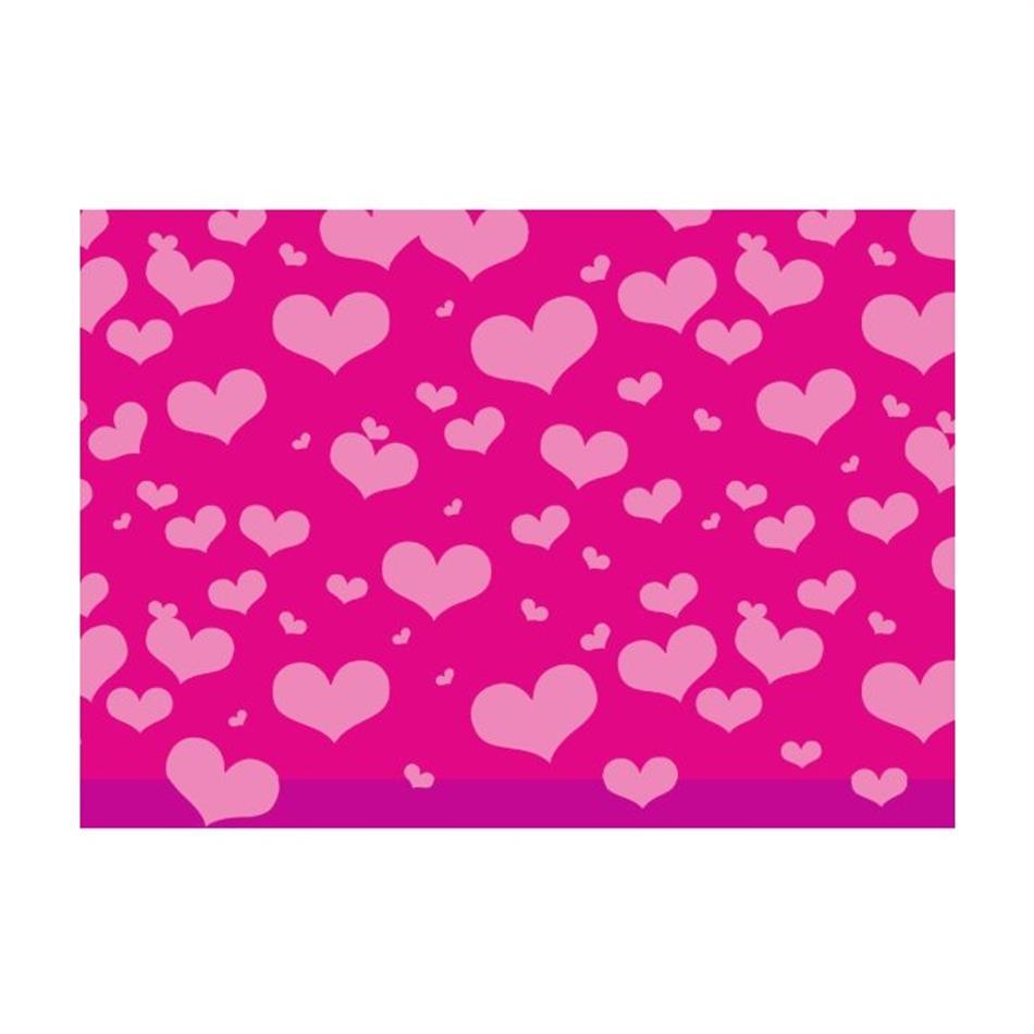 Pakkepaber 2m x 70 cm Heartbeat pink