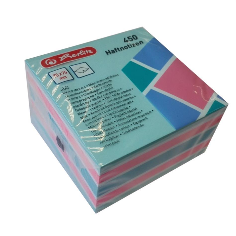 Märkmepaber 75x75mm Color Block värvilised lehe..