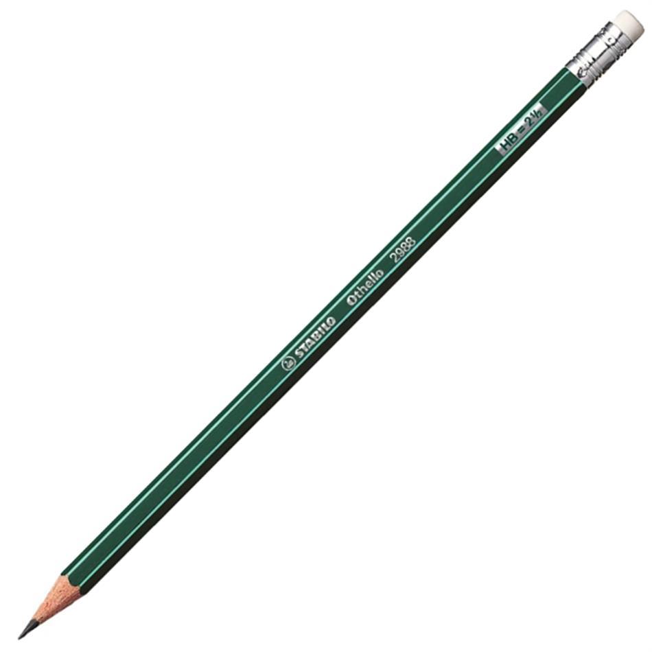 Harilik pliiats Stabilo Othello 2988 HB kustukaga
