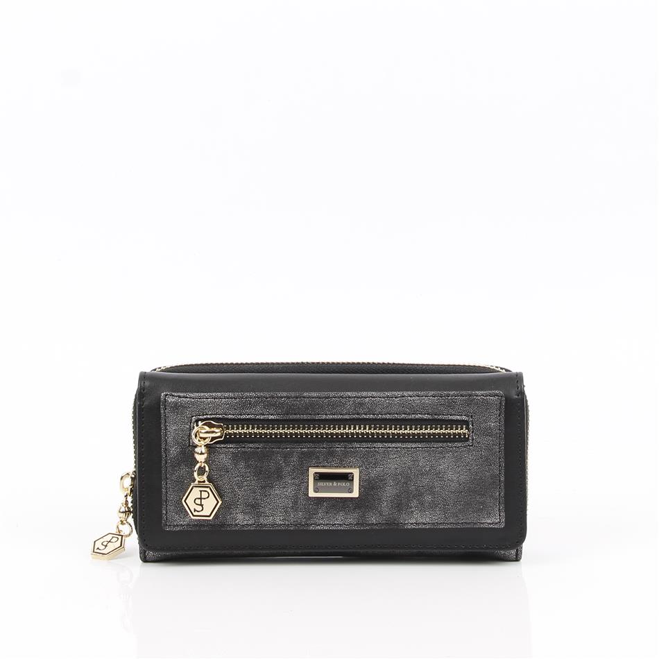 Naiste rahakott lukkudega Silver&Polo 846, plaati..