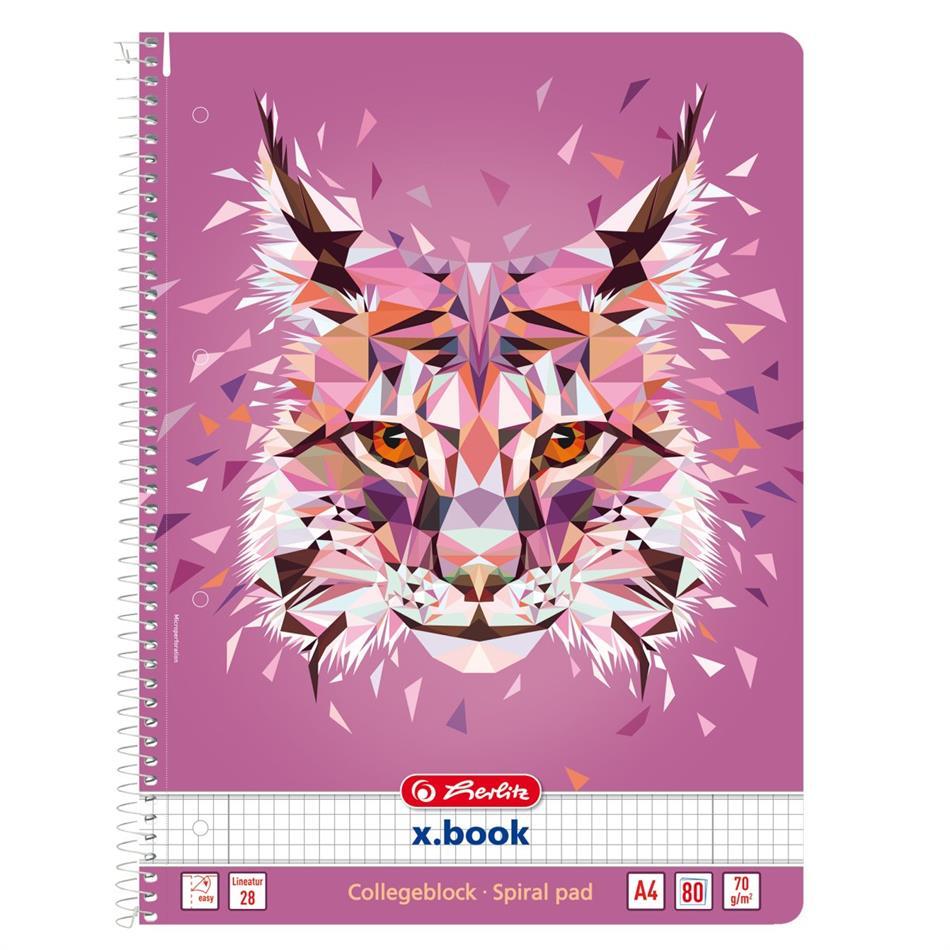 Spiraalkaustik A4/80 ruuduline Wild Animals / Ilv..