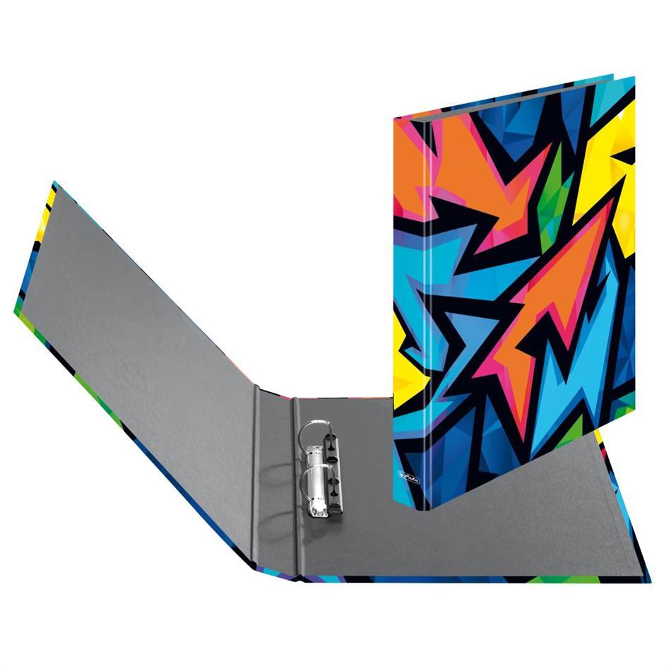 Rõngaskaaned Herlitz Neon Art - 2 rõngast, A4, ..