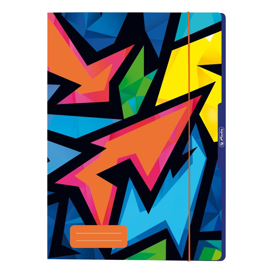 Kummiga kaaned A4 Herlitz Neon Art