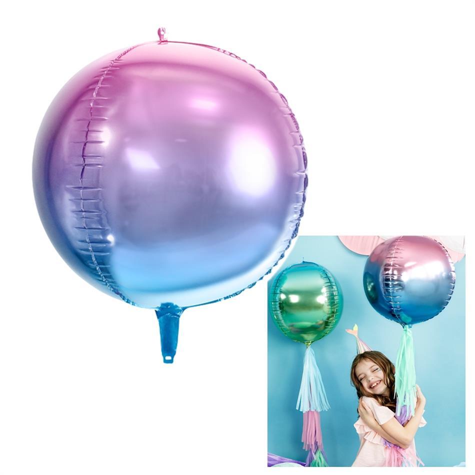 Fooliumist õhupall - 35 cm, sinine/violetne